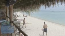 波拉波拉海滩股票视频人见面
