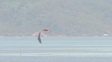 kiteboarder亚提亚泻湖股票视频