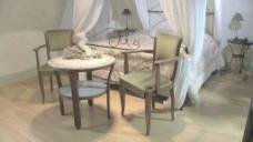 意大利宝谷EL villago酒店房间股票视频镜头倾斜