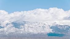 时间的推移云在雪山股票视频 视频免费下载