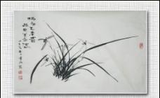 青石国画兰花图片