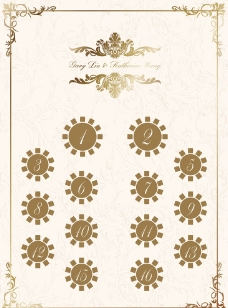 婚礼座位图图片