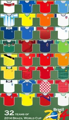 2014世界杯32强图片