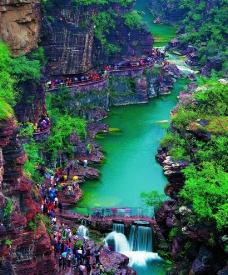 云台山 红石峡图片