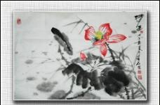 青石國畫 清香圖片