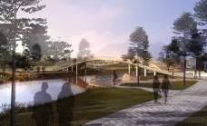 河边景观PSD图片