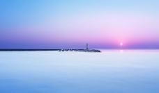 海上日出图片