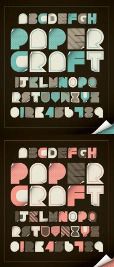 波点英文字母艺术字矢量图