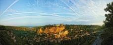 卡奥尔 洛特山谷 葡萄园村 全景图片