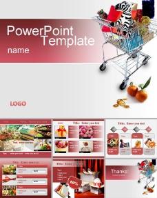 超市购物ppt模板