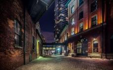 小巷的夜景