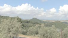 托斯卡纳山和云1股票的录像 视频免费下载