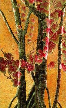 彩雕 树木图片
