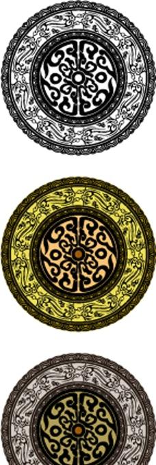 古典圆形花纹