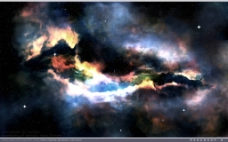 多彩星云背景图片