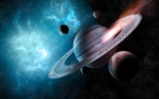带球星球背景图片