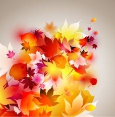矢量树叶背景设计