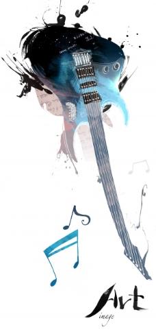 创意吉他海报
