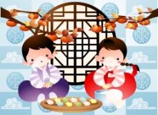 韩国传统人物