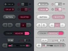 多媒体软件按钮
