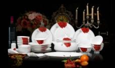 骨瓷餐具图片