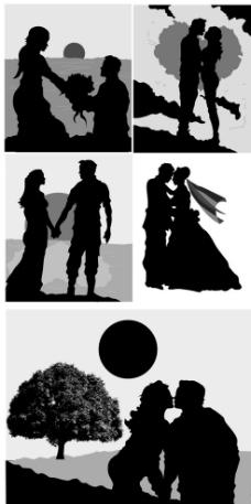 结婚婚礼求婚新人图片
