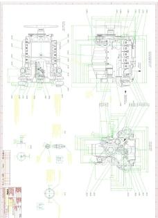 柴油发动机图纸图片