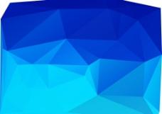 蓝色 多边形 抽象图片