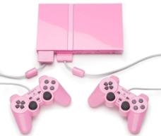粉色游戏机图片