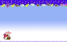 紫色展板素材图片
