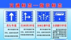 交通指示标志展板图片