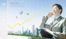 商业金融人物背景图片
