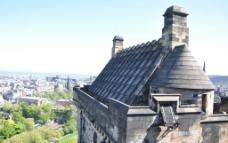 爱丁堡皇宫远眺图片