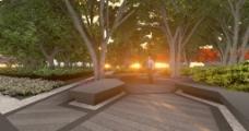中心景观区3D视频图片