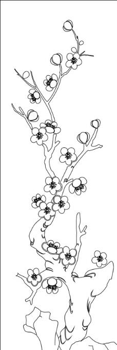 梅花 矢量图图片