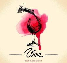 红酒葡萄酒图标商标图片