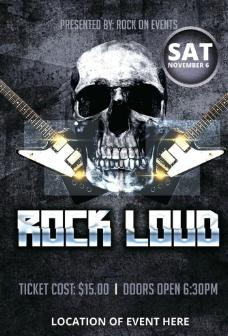 摇滚乐队演出海报图片
