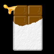 打开的巧克力