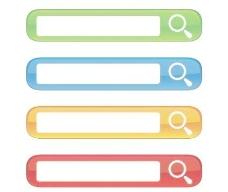 免费的内容丰富的网站搜索框向量