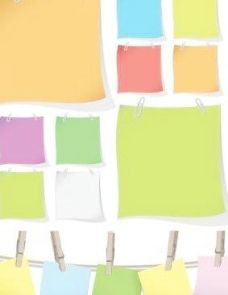 空白的彩色文件夹的矢量图形