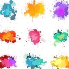 彩色墨水溅向量