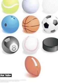 各种球类运动矢量