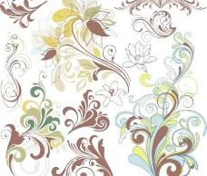 老式的花艺设计元素