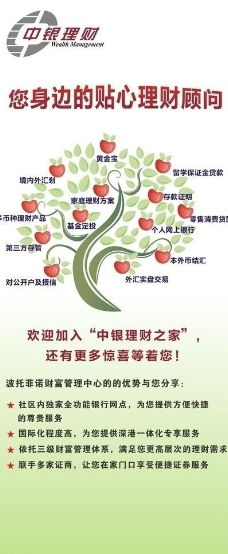 中国银行理财宣传x展架图片