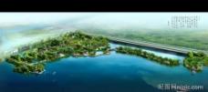 自然保护区景观设计效果图psd素材图片
