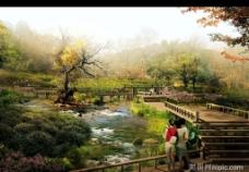 园林景观设计效果图psd素材图片