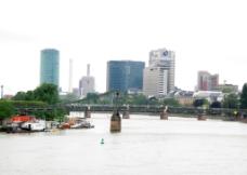 德国法兰克福莱茵河图片