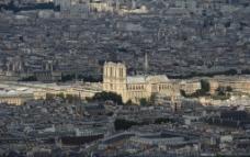 巴黎圣母院远景图片