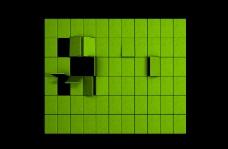 绿色方块背景视频素材素材下载