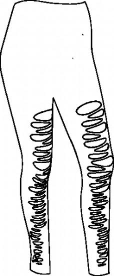 衣服裤子夹艺术